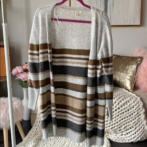 Sweaters - Multicolored Stripe Cardigan
